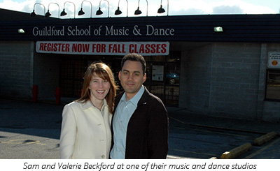 Sam and Valerie Beckford at one of their music and dance studios